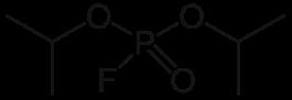 ジイソプロピルフルオロリン酸の化学構造
