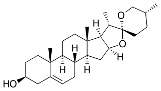 ジオスゲニンの化学構造