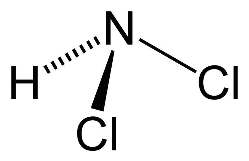 ジクロラミンの化学構造