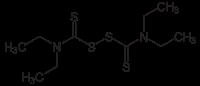 ジスルフィラムの化学構造