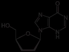 ジダノシンの化学構造