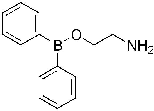 ジフェニルボリン酸2-アミノエチルの化学構造