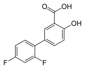 ジフルニサルの化学構造