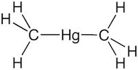 ジメチル水銀の化学構造