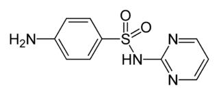 スルファジアジンの化学構造