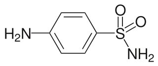スルファニルアミドの化学構造