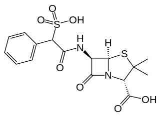 スルベニシリンの化学構造