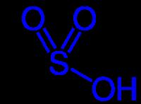スルホ基の化学構造