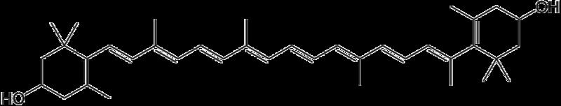 ゼアキサンチンの化学構造