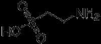 タウリンの化学構造