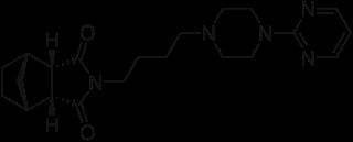 タンドスピロンの化学構造
