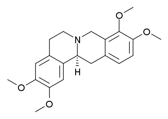 テトラヒドロパルマチンの化学構造
