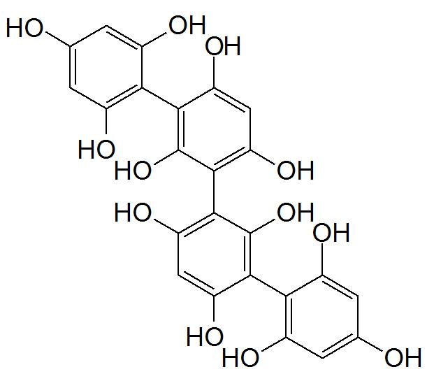 テトラフコルAの化学構造
