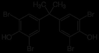 テトラブロモビスフェノールAの化学構造