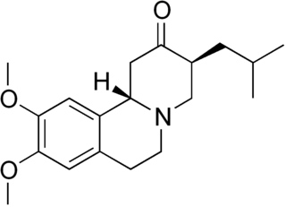 テトラベナジンの化学構造