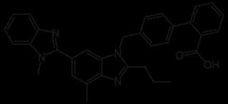 テルミサンタンの化学構造