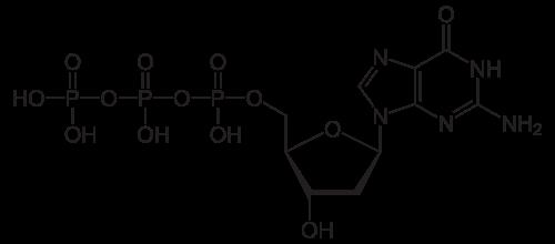 デオキシグアノシン三リン酸の化学構造