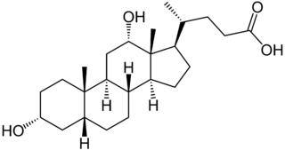 デオキシコール酸の化学構造