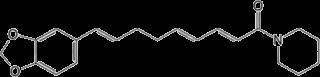 デヒドロピペルノナリンの化学構造