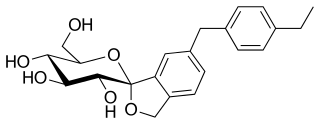 トホグリフロジンの化学構造