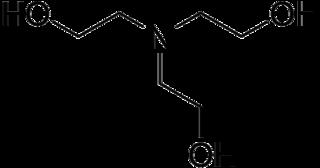 トリエタノールアミンの化学構造