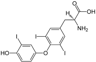 トリヨードサイロニンの化学構造