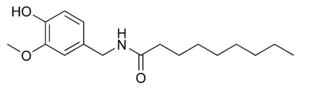 ノナン酸バニリルアミド(ノニバミド)の化学構造