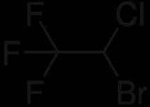 ハロタンの化学構造