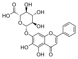 バイカリンの化学構造