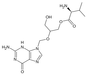 バルガンシクロビルの化学構造