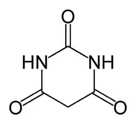 バルビツール酸の化学構造