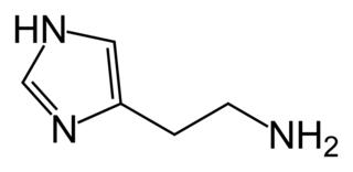 ヒスタミンの化学構造