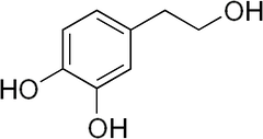 ヒドロキシチロソールの化学構造