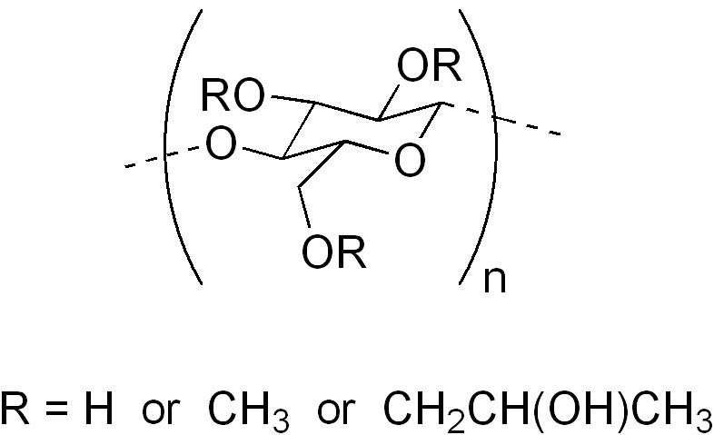 ヒプロメロースの化学構造