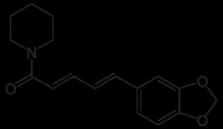 ピペリンの化学構造