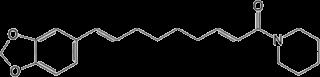 ピペルノナリンの化学構造