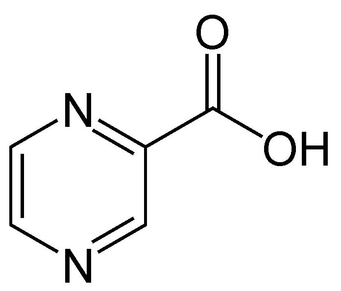 ピラジン酸の化学構造