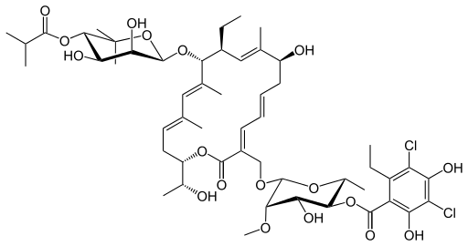 フィダキソマイシンの化学構造