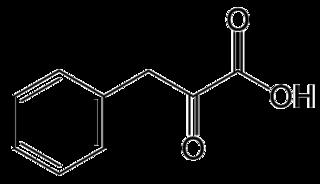 フェニルピルビン酸の化学構造