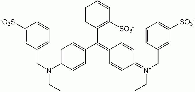 ブリリアントブルーFCF(青色1号)の化学構造