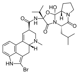 ブロモクリプチンの化学構造