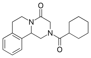 プラジカンテルの化学構造