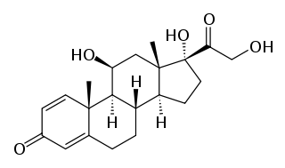 プレドニゾロンの化学構造