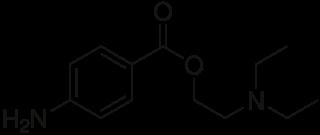 プロカインの化学構造
