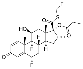 プロピオン酸フルチカゾンの化学構造