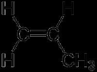 プロピレンの化学構造