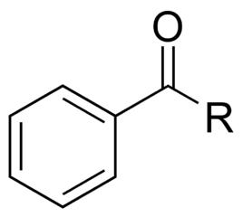 ベンゾイル基の化学構造