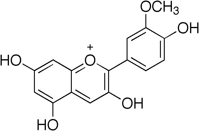 ペオニジンの化学構造