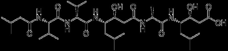 ペプスタチンの化学構造