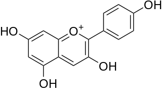ペラルゴニジンの化学構造